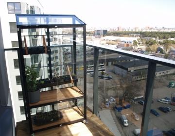 Juliana City 13.korruse rõdul