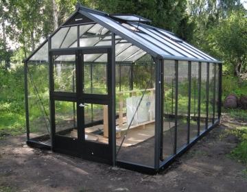 Juliana Premium 13,0m² karastatud klaasiga, katus 10mm polükarbonaat