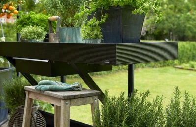 Aлюминый стол черн. 52x142 cm